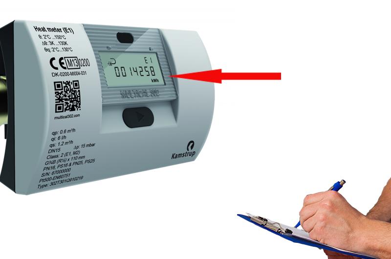 Як правильно рахувати показання з лічильника тепла